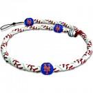 New York Mets Classic Frozen Rope Baseball Wristband / Bracelet