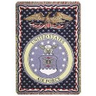 "United States Air Force 50"" x 70"" Three Layer Throw Blanket From Simply Home"