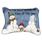 """It's The Most Wonderful Time"" 9"" x 12"" Holiday Tapestry Pillow From Simply Home"