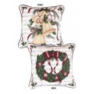 """Traditions of Christmas (Wreath / Bells)"" 17"" x 17"" Holiday Pillow From Simply Home"