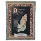 """""""Lord's Prayer"""" 50"""" x 70"""" Full-Size Tapestry Throw Blanket From Simply Home"""