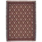 """""""Fleur De Lis Red"""" 50"""" x 60"""" Tapestry Throw Blanket From Simply Home"""