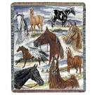 """""""Horse Sense"""" 50"""" x 60"""" Tapestry Throw Blanket From Simply Home"""