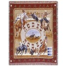 """""""Rodeo"""" 50"""" x 60"""" Tapestry Throw Blanket From Simply Home"""
