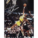 "Dennis Rodman Autographed Los Angeles Lakers (Rebounding vs. Sonics) 16"" x 20"" Photograph (Unframed)"