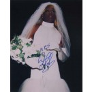 "Dennis Rodman Autographed ""Wedding Dress"" 16"" x 20"" Photograph - Signed ""Mrs. Dennis Rodman"" (Unframed)"