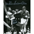 """Rubin """"Hurricane"""" Carter and Emile Griffith Autographed Black and White 16"""" x 20"""" Photograph (Unframed)"""