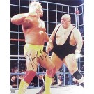 "Hulk Hogan Autographed ""vs. King Kong Bundy"" 8"" x 10"" Photograph (Unframed)"