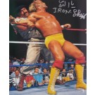 "Iron Sheik Autographed ""vs. Hulk Hogan"" 16"" x 20"" Photograph (Unframed)"