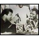 "Joe Frazier Autographed ""Ali/Frazier Gorilla Pose"" 16"" x 20"" Black & White Photograph (Unframed)"