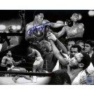 "Joe Frazier Autographed 16"" x 20"" Black & White Photograph featuring a Collage with Muhammad Ali (Unframed)"