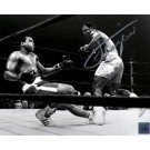 "Joe Frazier Autographed ""Knockdown"" 16"" x 20"" Black & White Photograph with Muhammad Ali (Unframed)"
