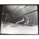 "Joe Frazier Autographed ""Knockdown II"" 16"" x 20"" Black & White Photograph with Muhammad Ali (Unframed)"