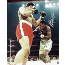 "Joe Frazier Autographed ""Ali / Frazier I Ducking"" 16"" x 20"" Color Photograph  (Unframed)"