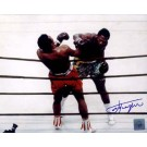 "Joe Frazier Autographed ""Ali/Frazier Against The Ropes"" 8"" x 10"" Color Photograph (Unframed)"