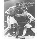 "Jake LaMotta Autographed ""Punching Sugar Ray Robinson"" 16"" x 20"" Black & White Photograph (Unframed)"