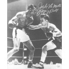 "Jake LaMotta Autographed ""Punching Sugar Ray Robinson"" 8"" x 10"" Black & White Photograph  (Unframed)"