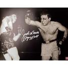 """Jake LaMotta Autographed """"LaMotta Bloodied"""" 8"""" x 10"""" Unframed Black & White Photograph"""