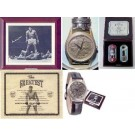 "Muhammad Ali Autographed Fossil Watch (Signed ""Ali over Liston"" on Wooden Case)"