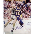 "Magic Johnson Autographed ""Magic Johnson vs. Larry Bird Post Up"" 16"" x 20"" Photograph (Unframed)"