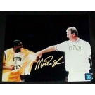 "Magic Johnson Autographed ""Bird Retirement Night"" 8"" x 10"" Photograph (Unframed)"