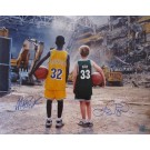 "Magic Johnson and Larry Bird Dual Autographed ""Children at the Boston Garden"" 16"" x 20"" Photograph (Unframed)"