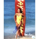 "Stacy Kamano Autographed ""Baywatch on Beach with Surfboard"" 8"" x 10"" Color Photograph  (Unframed)"