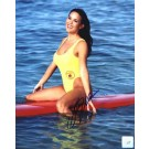 "Stacy Kamano Autographed ""Baywatch Smiling on Surfboard"" 8"" x 10"" Color Photograph  (Unframed)"