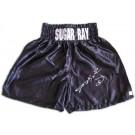 Sugar Ray Leonard Autographed Custom Boxing Trunks