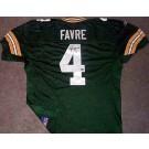 Brett Favre Autographed Green Bay Packers Reebok Authentic Green Jersey