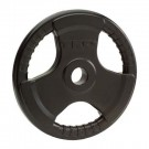 5 lb. Olympic Tri-Grip Rubber Weight Plate (Black) from TKO Sports