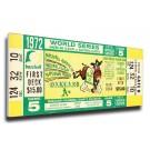 1972 Oakland Athletics World Series Mega Ticket