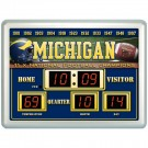 "Michigan Wolverines 14"" x 19"" LED Scoreboard Clock and Thermometer"