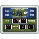 """New York Yankees 14"""" x 19"""" LED Scoreboard Clock and Thermometer"""