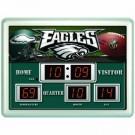 "14"" x 19"" Philadelphia Eagles NFL Scoreboard Alarm Clock"