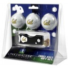 California (UC Berkeley) Golden Bears 3 Golf Ball Gift Pack with Spring Action Tool