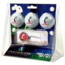 Cincinnati Bearcats 3 Golf Ball Gift Pack with Cap Tool