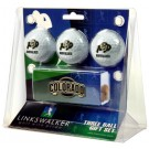 Colorado Buffaloes 3 Ball Gift Pack with Hat Clip