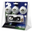 Colorado Buffaloes 3 Golf Ball Gift Pack with Spring Action Tool