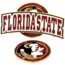 Florida State Seminoles Slider Clip with Golf Ball Marker (Set of 3)