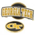 Georgia Tech Yellow Jackets Slider Clip with Golf Ball Marker (Set of 3)