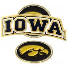 Iowa Hawkeyes Slider Clip with Golf Ball Marker (Set of 3)