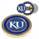 Kansas Jayhawks Challenge Coin with Ball Markers (Set of 2)