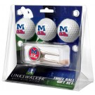 Mississippi (Ole Miss) Rebels 3 Golf Ball Gift Pack with Cap Tool