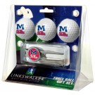 Mississippi (Ole Miss) Rebels 3 Ball Golf Gift Pack with Kool Tool