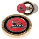 Miami (Ohio) RedHawks Challenge Coin with Ball Markers (Set of 2)