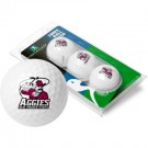 New Mexico State Aggies Top Flite XL Golf Balls 3 Ball Sleeve (Set of 3)