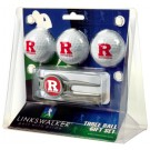 Rutgers Scarlet Knights 3 Ball Golf Gift Pack with Kool Tool