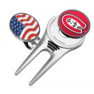 St. Cloud State Huskies Divot Tool Hat Clip with Ball Marker (Set of 2)