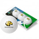 Southern Mississippi Golden Eagles Top Flite XL Golf Balls 3 Ball Sleeve (Set of 3)